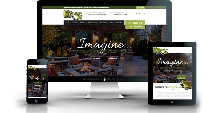 A New Image Landscape website screenshots